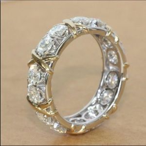 (Size 9) New 10K gold engagement ring